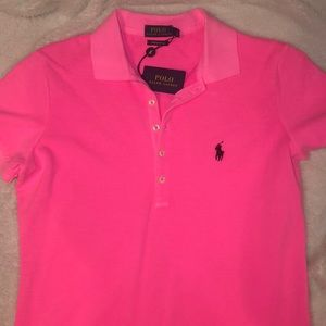 Pink Polo Ralph Lauren Collard Shirt